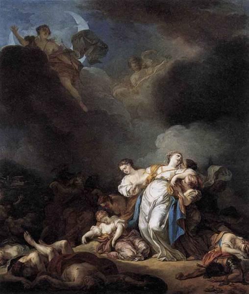 Apollo And Diana Attacking Niobe And Her Children